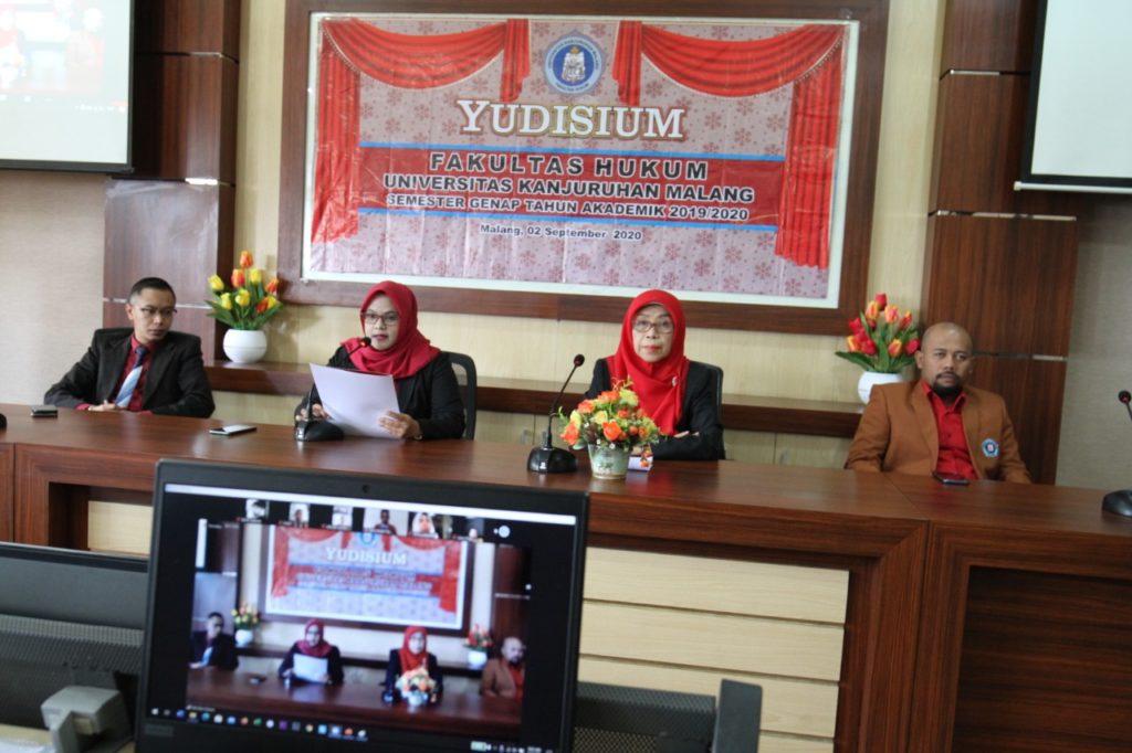 Fakultas Hukum Unikama Lakukan Yudisium Semester Genap Secara Daring