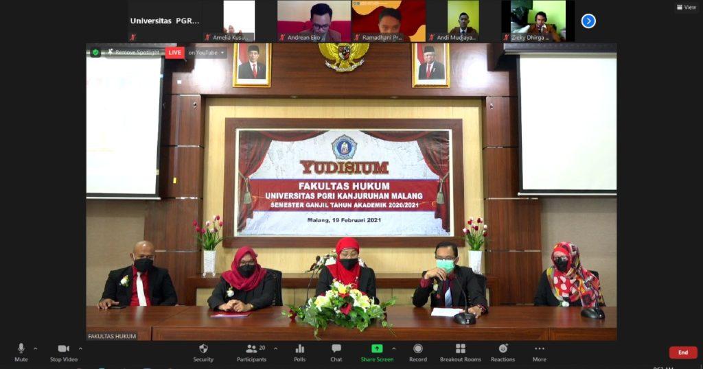 Fakultas Hukum Unikama Gelar Yudisium Semester Ganjil Tahun Akademik 2020/2021