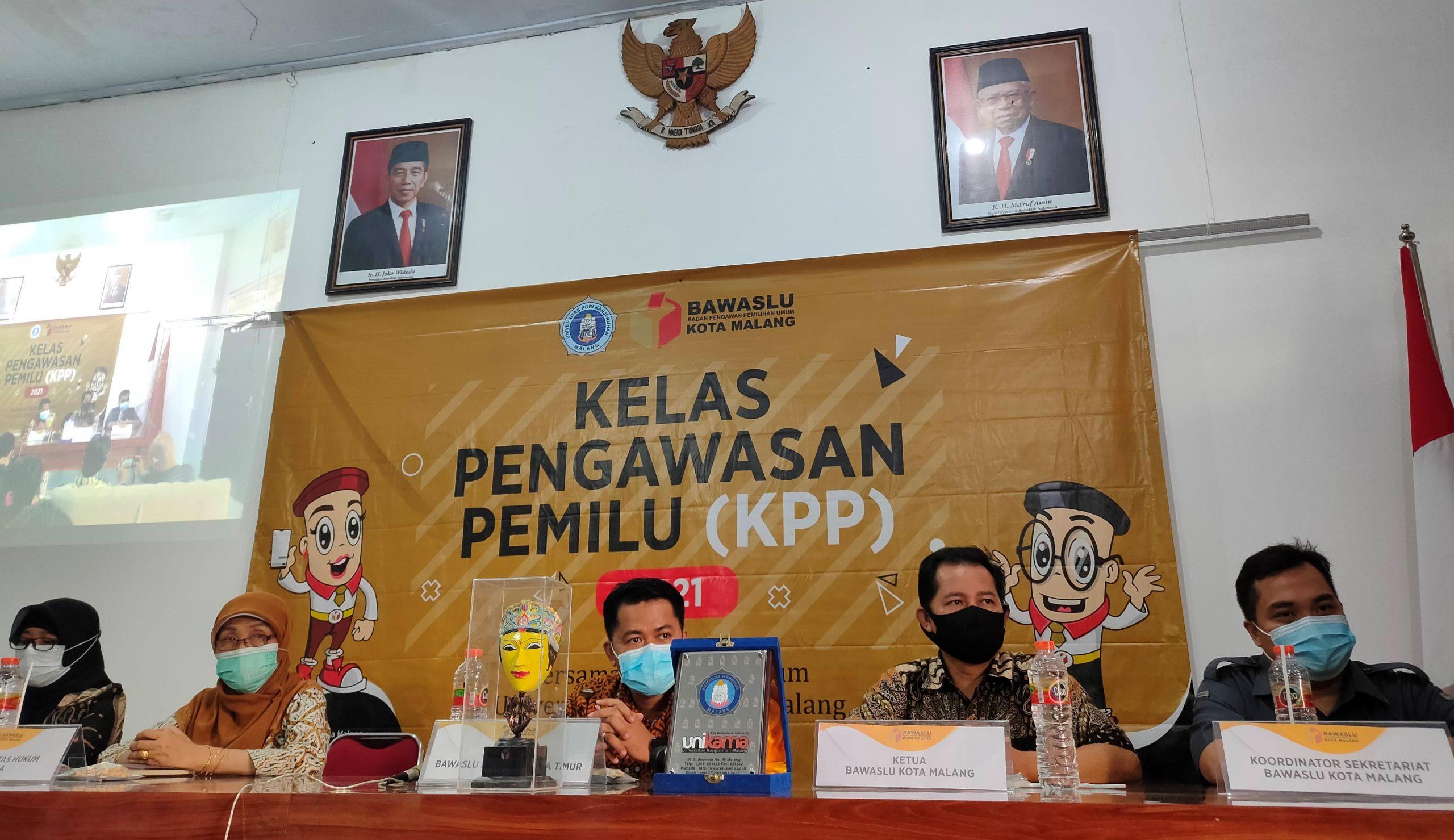 Implementasikan Kampus Merdeka Belajar Fakultas Hukum Unikama Buka Kelas Pengawasan Pemilu (KPP) Pertama Di  Jawa Timur Berkerjasama dengan Bawaslu Kota Malang