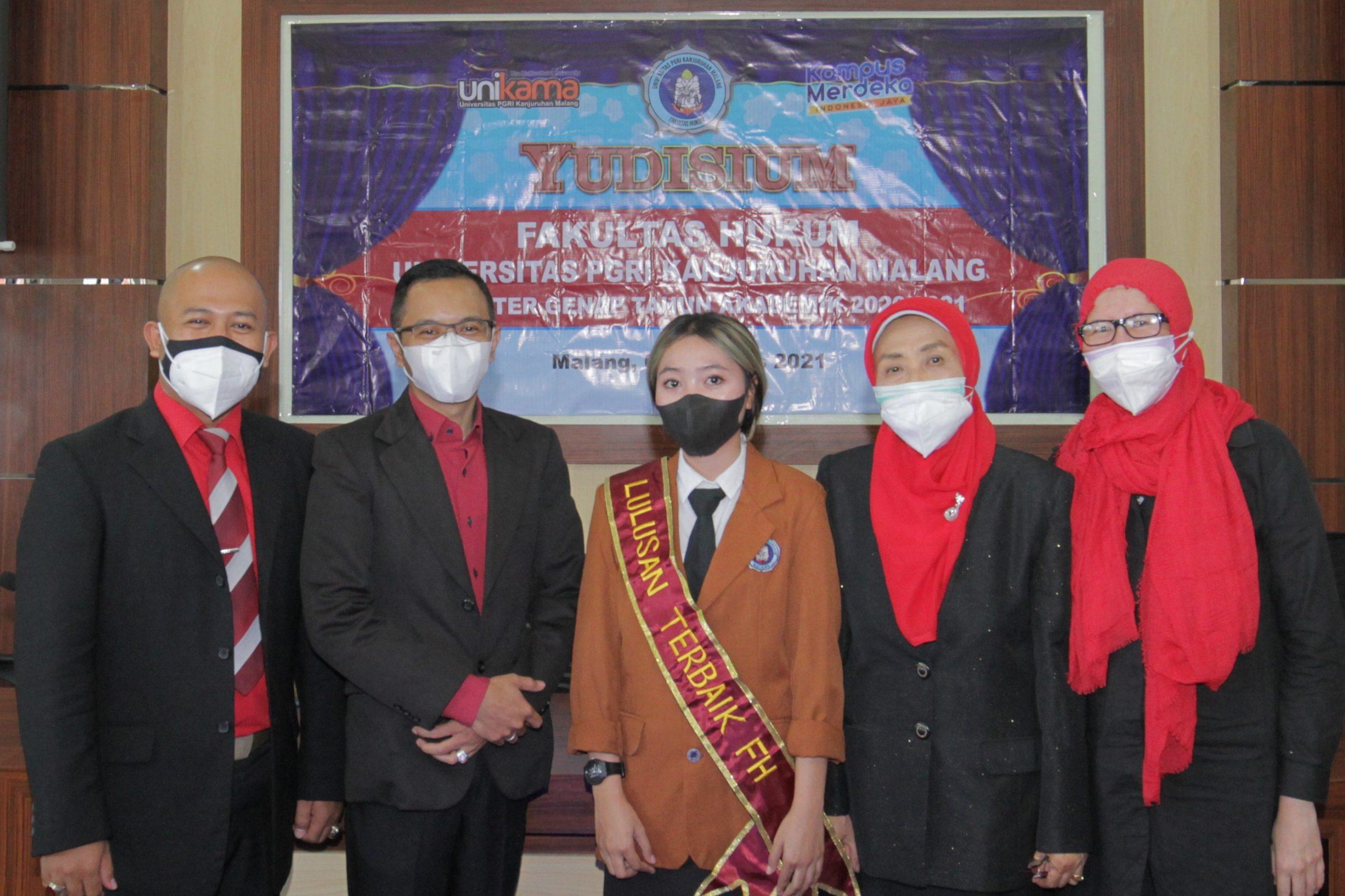 Fakultas Hukum Universitas PGRI Kanjuruhan Gelar Yudisium Virtual, Luluskan 17 Wisudawan