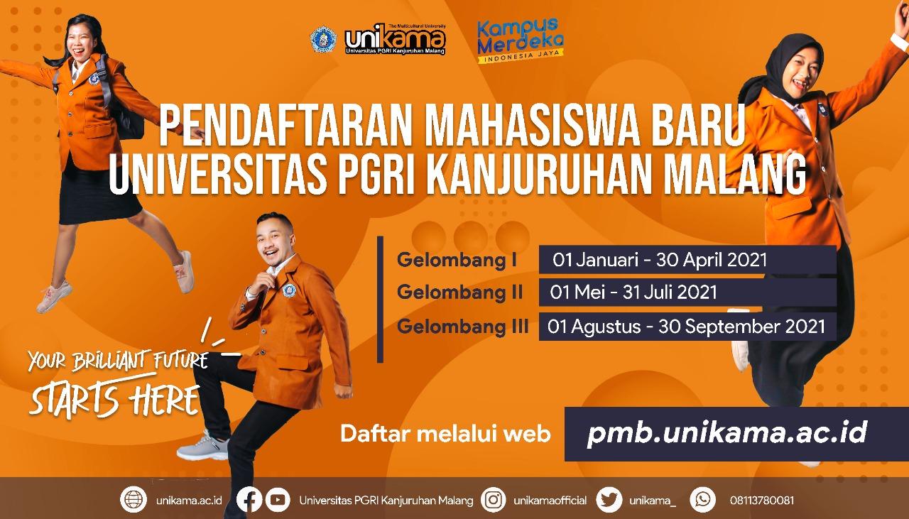 Hai hai calon mahasiswa Unikama cek pmb.unikama.ac.id Pendaftaran gelombang 3 masih panjang