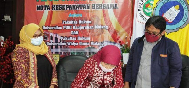 Fokus Pertukaran Pelajar, Fakultas Hukum Unikama Lakukan MoA dengan Universitas Widyagama Malang
